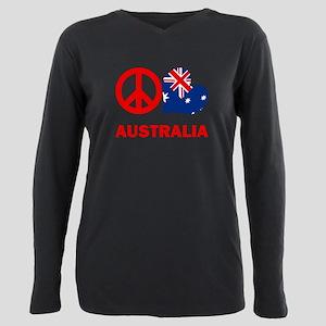 Peace Love Australia Plus Size Long Sleeve Tee