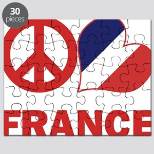 Peace Love France Puzzle