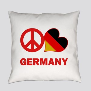 Peace Love Germany Everyday Pillow