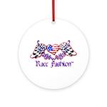 Race Fashion.com US Heart Ornament (Round)