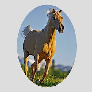 Palomino Horse Oval Ornament