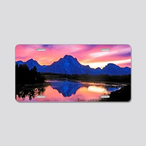 Grand Teton Range Aluminum License Plate