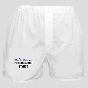 Worlds Greatest PHOTOGRAPHIC STYLIST Boxer Shorts