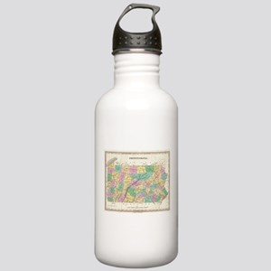 Vintage Map of Pennsyl Stainless Water Bottle 1.0L