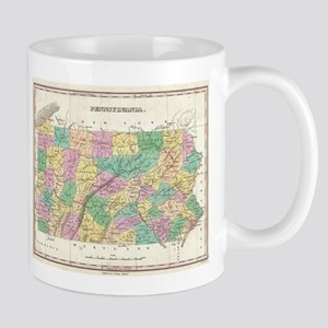 Vintage Map of Pennsylvania (1827) Mugs