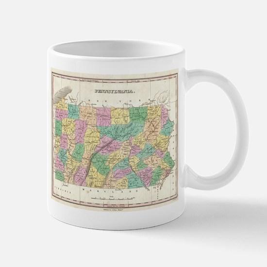 Vintage Map of Pennsylvania (1827) Mugs