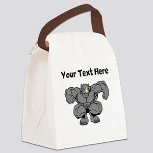 Rhino Jumping Canvas Lunch Bag