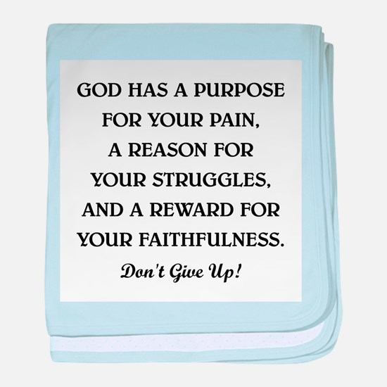 GOD HAS A PURPOSE baby blanket