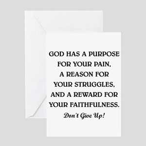 GOD HAS A PURPOSE Greeting Card