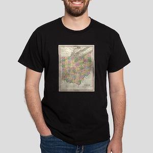 Vintage Map of Ohio (1827) T-Shirt