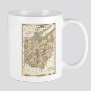 Vintage Map of Ohio (1827) Mugs