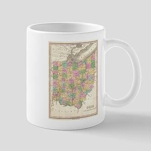 Vintage Map of Ohio (1827) Mugs
