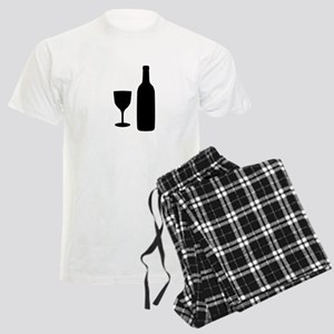 Wine Silhouette Men's Light Pajamas