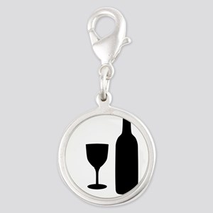 Wine Silhouette Charms
