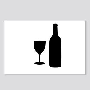 Wine Silhouette Postcards (Package of 8)