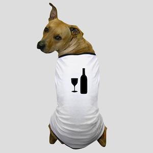 Wine Silhouette Dog T-Shirt