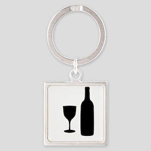 Wine Silhouette Keychains