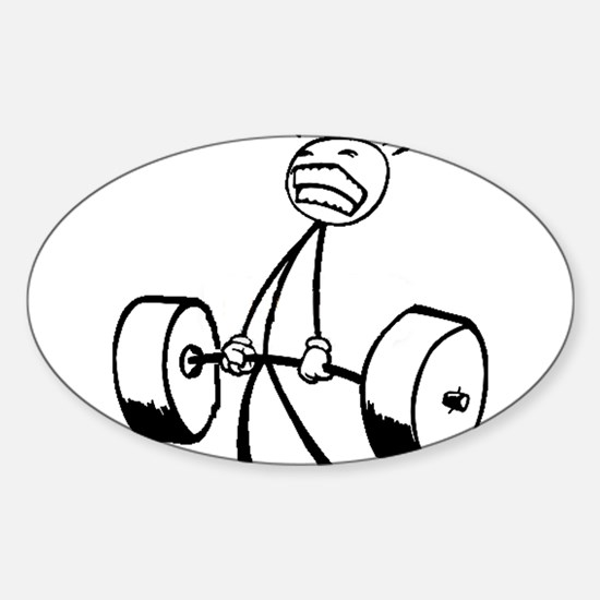 Cute Exercise Sticker (Oval)