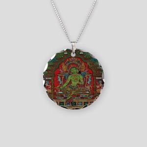 The Green Tara Necklace Circle Charm