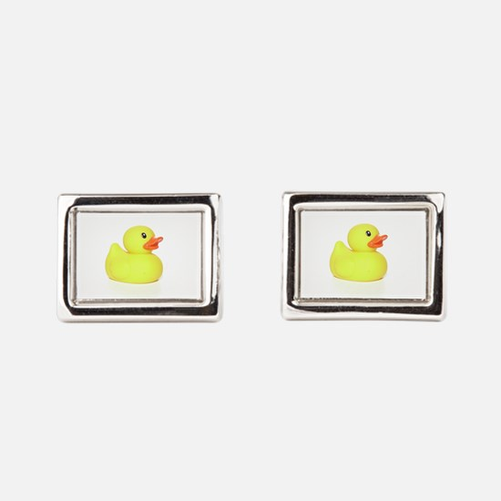 Rubber Duck Rectangular Cufflinks