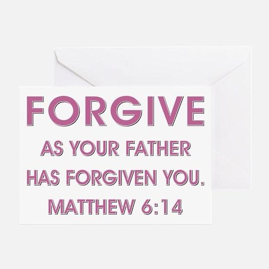 FORGIVE Greeting Card