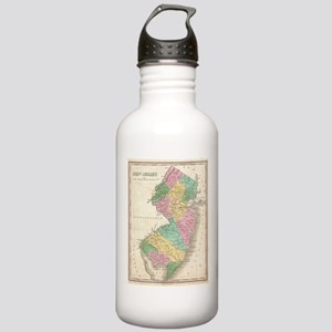Vintage Map of New Jer Stainless Water Bottle 1.0L