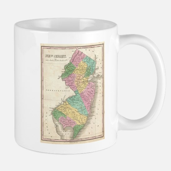 Vintage Map of New Jersey (1827) Mugs