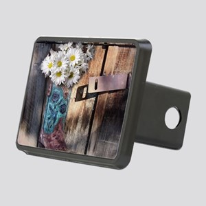 rustic western country cow Rectangular Hitch Cover