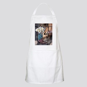 rustic western country cowboy boots Apron
