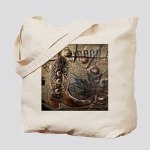 rustic western country cowboy boots Tote Bag
