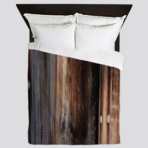 western country barn board Queen Duvet