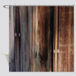 western country barn board Shower Curtain