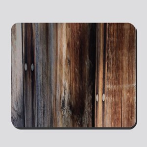 western country barn board Mousepad
