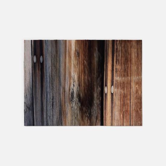 western country barn board 5'x7'Area Rug