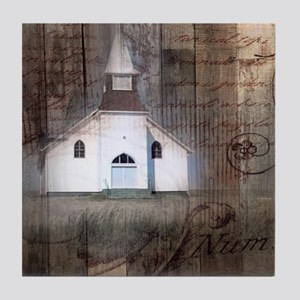 modern western country chapel Tile Coaster