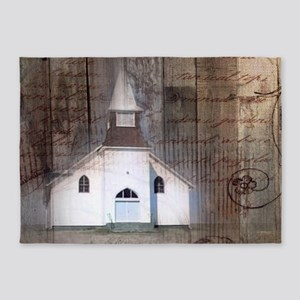 modern western country chapel 5'x7'Area Rug