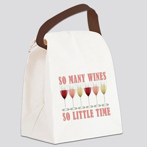 SO MANY WINES... Canvas Lunch Bag