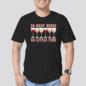 SO MANY WINES... Men's Fitted T-Shirt (dark)