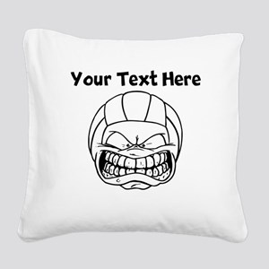 Cartoon Volleyball Square Canvas Pillow