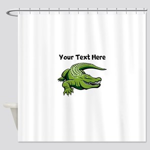 Green Alligator Shower Curtain