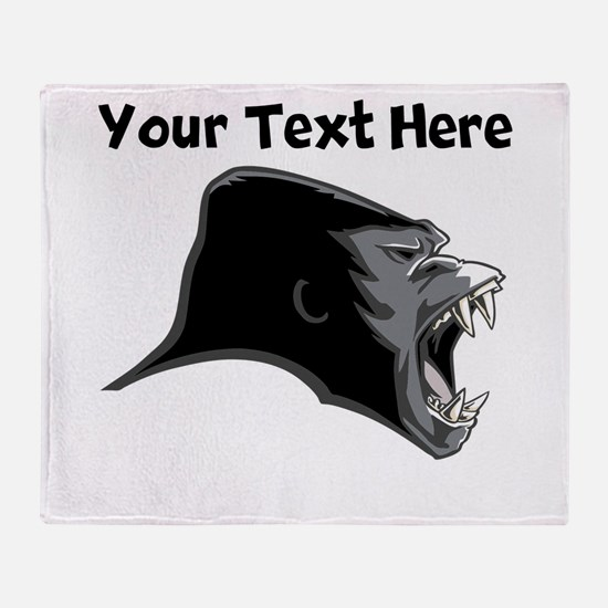 Gorilla Head Throw Blanket