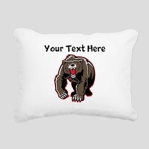 Grizzly Bear Rectangular Canvas Pillow
