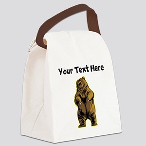 Angry Bear Canvas Lunch Bag