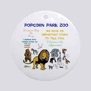 POPCORN PARKS ZOO STORY. TWINKLING Round Ornament