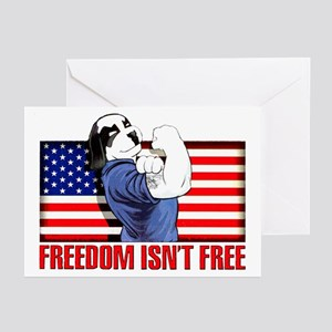 Freedom Dawg Greeting Cards (Pk of 20)