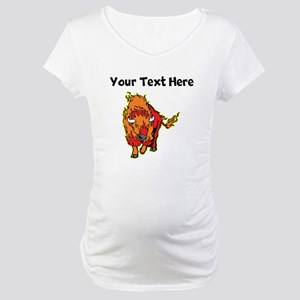 Fire Bison Maternity T-Shirt