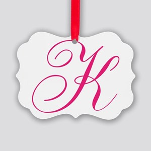 Personalized Monogram Initial Ornament