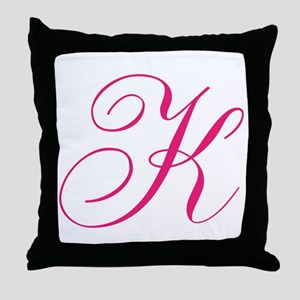 Personalized Monogram Initial Throw Pillow