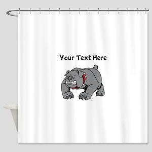 Mean Bulldog Shower Curtain