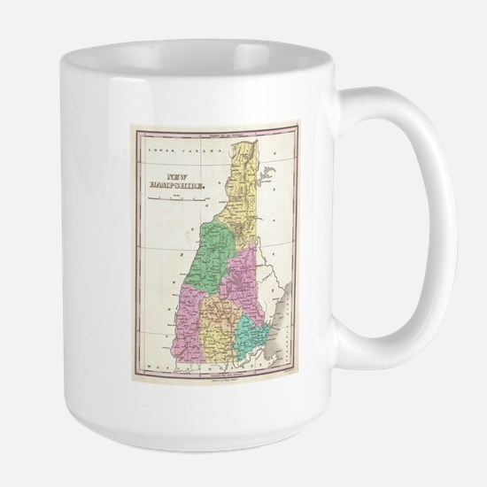 Vintage Map of New Hampshire (1827) Mugs